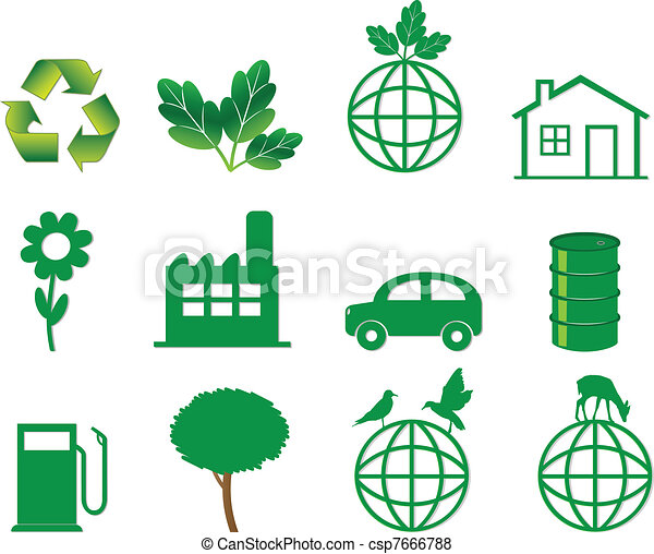 ecology icons  - csp7666788