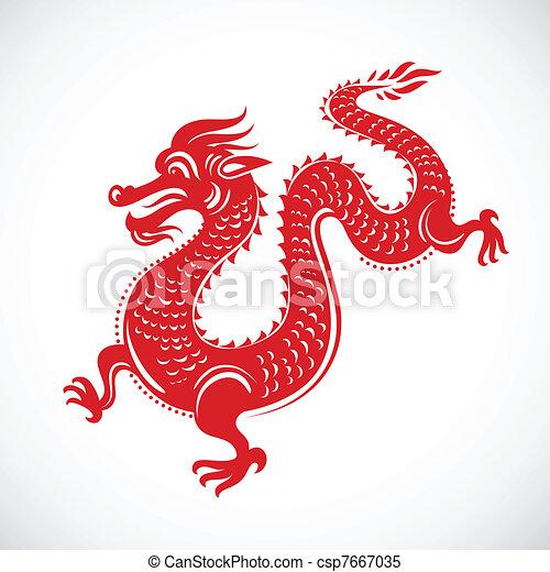 Year of Dragon, Chinese New Year - csp7667035