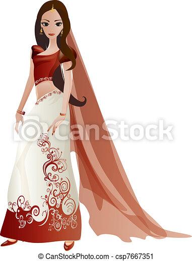 Indian Bride - csp7667351