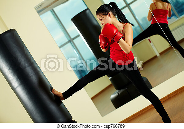 Kick boxing - csp7667891