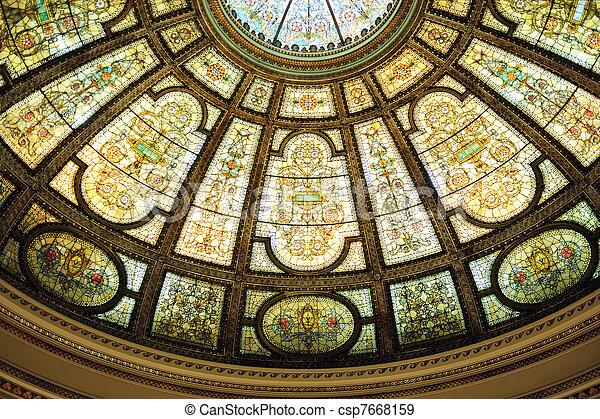 Chicago Cultural Center interior - csp7668159