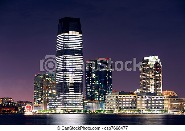 Jersey City skyline - csp7668477