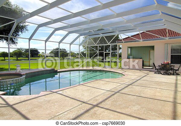Residential Swimming pool - csp7669030