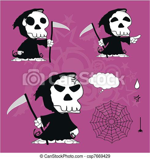 funny dead cartoon set1 - csp7669429