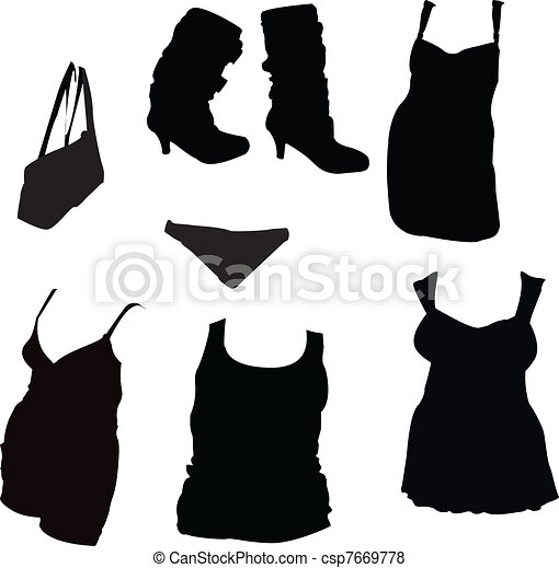 Womans Clothing and Accessories - csp7669778