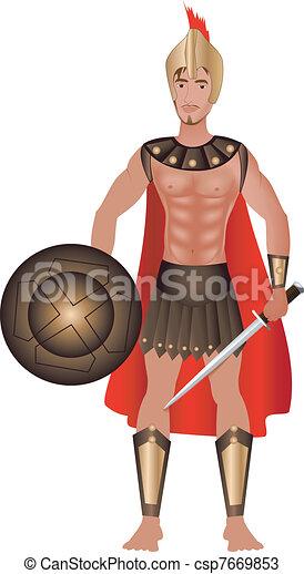 Greek Carnival Costume - csp7669853