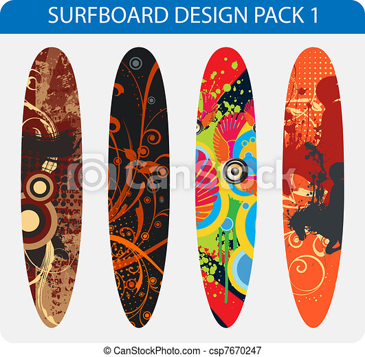 Surfboard design pack - csp7670247