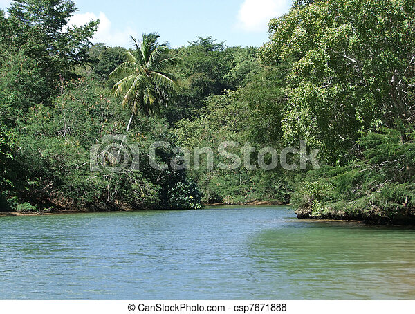 Dominican Republic waterside scenery - csp7671888