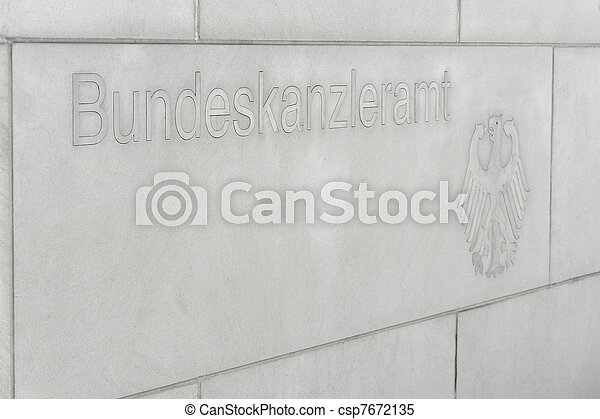 Federal Chancellery script nameplate - csp7672135