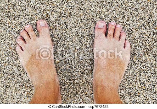Immagini di piedi spiaggia uomo piedi di uomo a il for Piani di studio 300 piedi quadrati