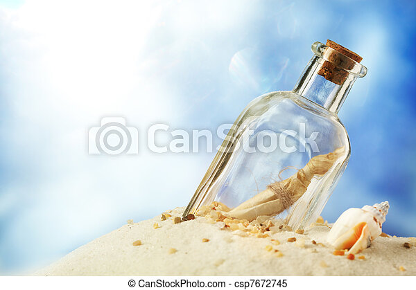 Message in a bottle - csp7672745