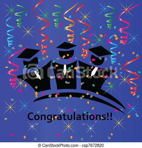 Graduates congratulations - csp7672820