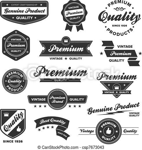 Vintage premium badges - csp7673043