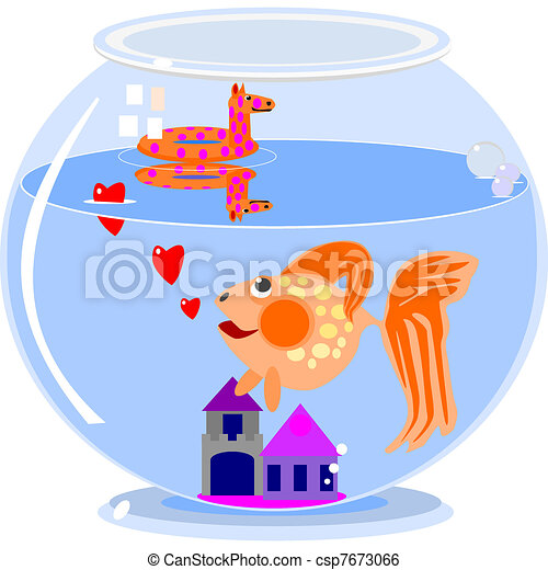Love in a fish bowl - csp7673066