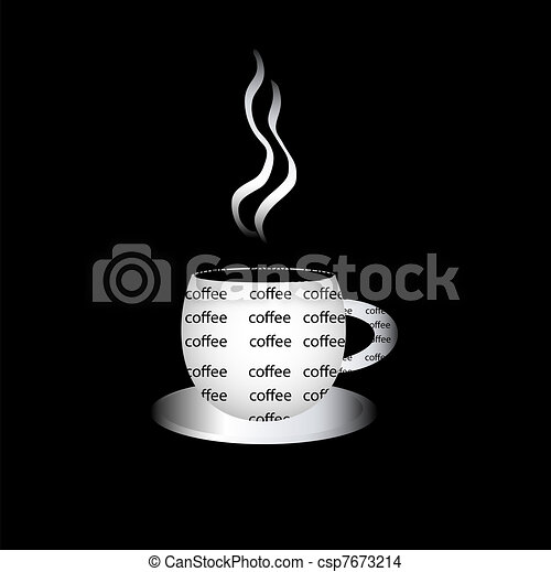 Coffe cup filled with words - csp7673214