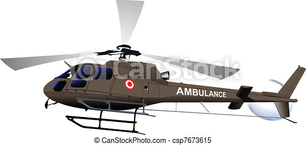 Air force. Ambulance helicopter. Ve - csp7673615