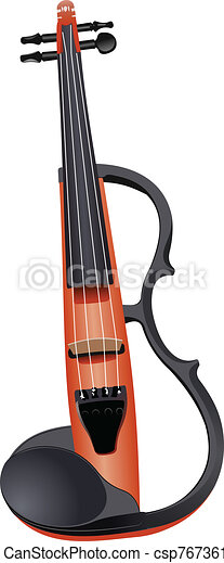 Electric violin isolated over whit - csp7673616