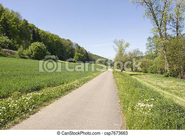idyllic spring scenery in Hohenlohe - csp7673663
