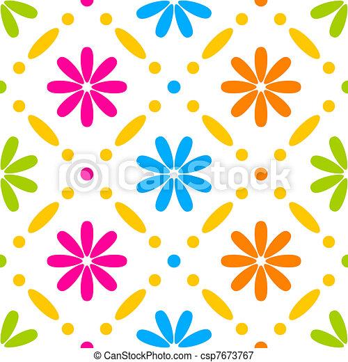 Floral stitches - csp7673767