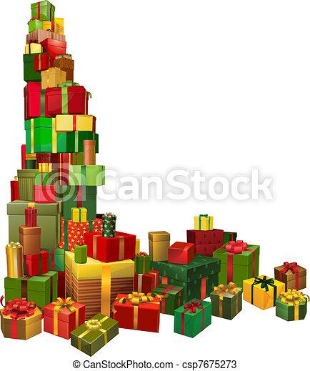 Vektoren von geschenke ecke design weihnachten element for Design geschenke