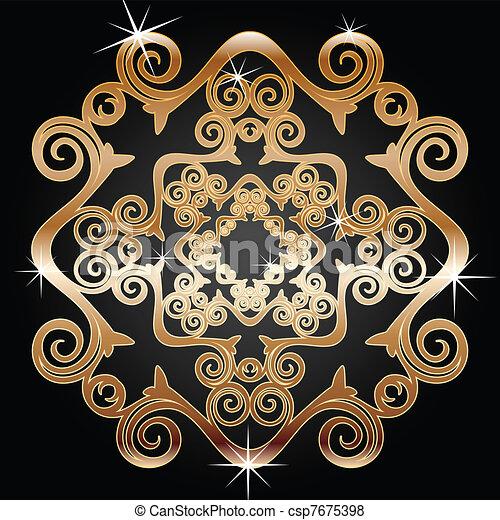Vector van versiering goud element illustratie van for Versiering goud