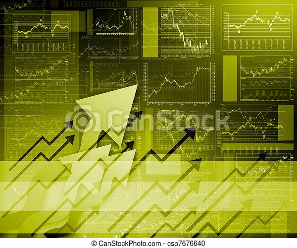 FInancial diagrams, charts and graphs - csp7676640
