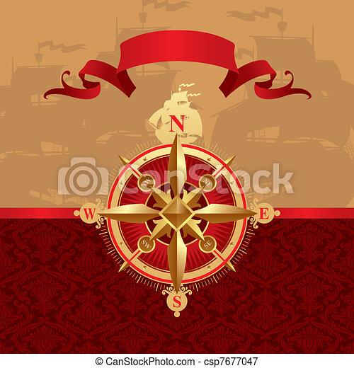 Ancient compass rose - csp7677047