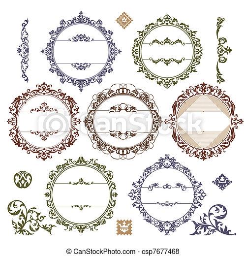 set of royal vintage frames - csp7677468