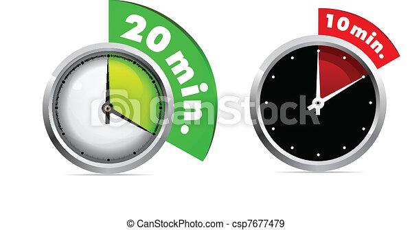 Vecteurs eps de 10 20 minutes minuteur ensemble 10 - Minuteur 10 minutes ...
