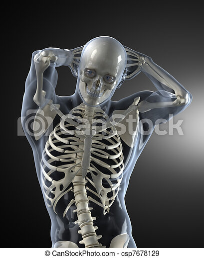 Human Body Medical Scan front view - csp7678129