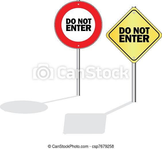 do not enter - csp7679258