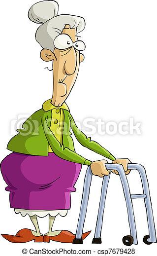 vieux, femme - csp7679428