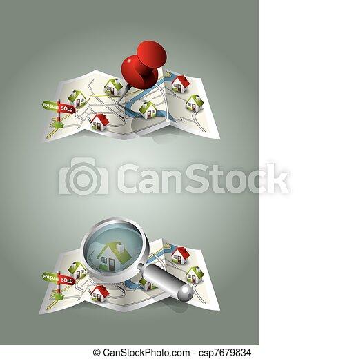 Real estate maps - csp7679834