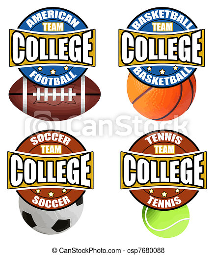 College Sport's Labels - csp7680088