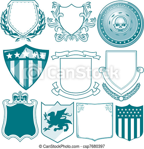 vectors illustration of shield collection clip art clip art hawks clip art hawks