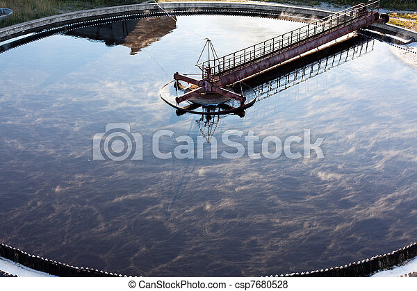 Settler in water treatment plant - csp7680528