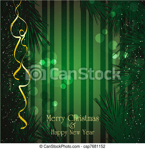 vector Christmas, a festive backgro - csp7681152
