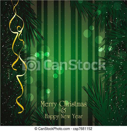 vector Christmas, a festive backgro - csp7681152
