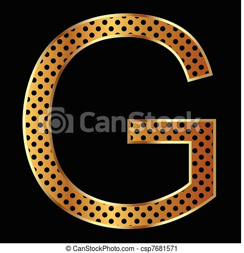 Letter G with tiger style  - csp7681571