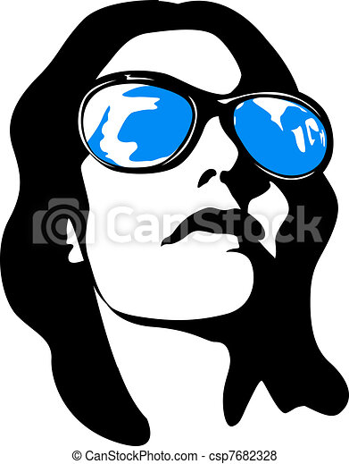 woman face pop art - csp7682328