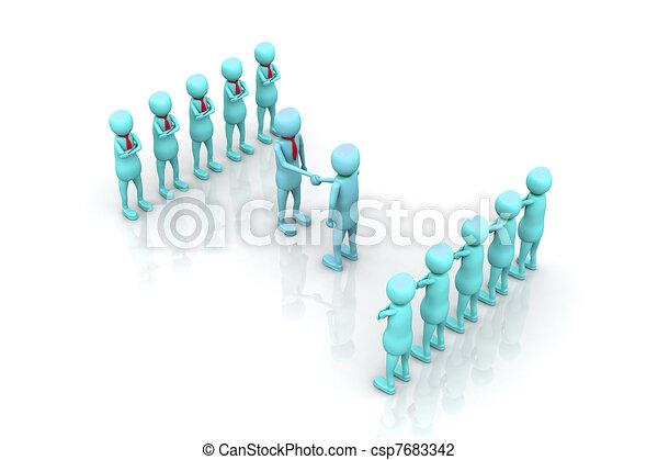 Teams cooperation - csp7683342