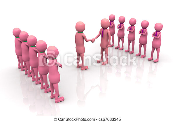 Teams cooperation - csp7683345