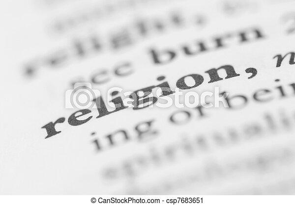 Dictionary Series - Religion - csp7683651