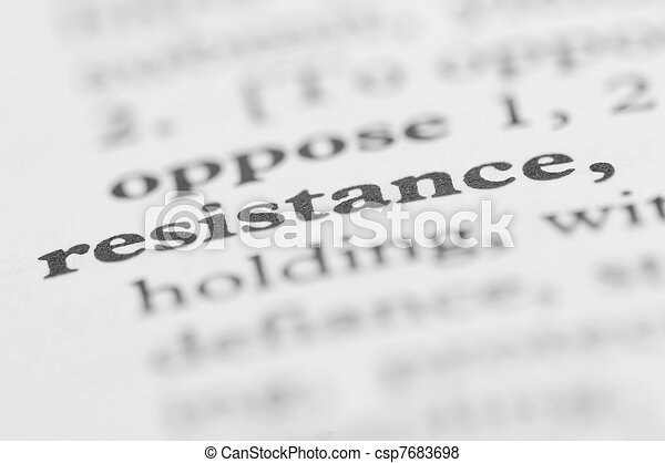 Dictionary Series - Resistance - csp7683698