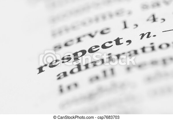 Dictionary Series - Respect - csp7683703