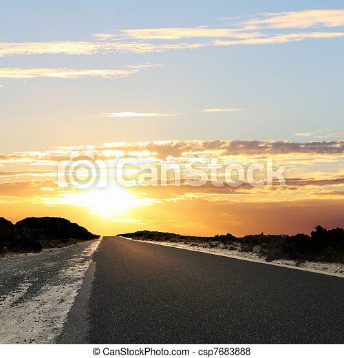Asphalt road in countryside - csp7683888