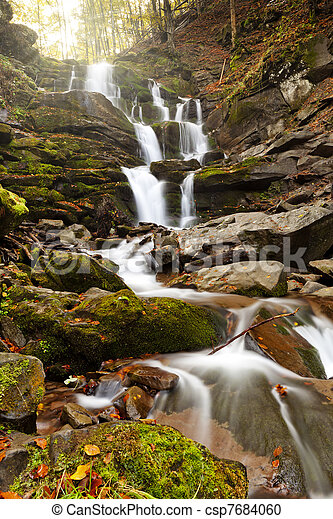 Mountain waterfall - csp7684060