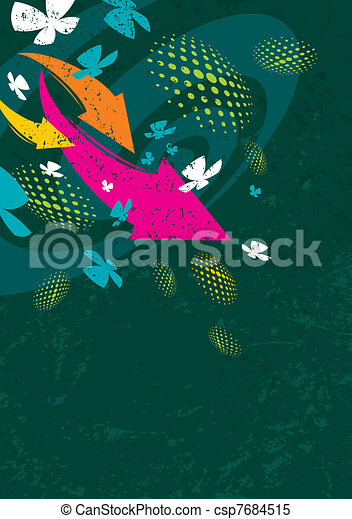 Abstract background with arrows - csp7684515