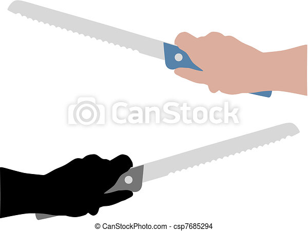 Bread Knife Drawing Bread Knife With Hand