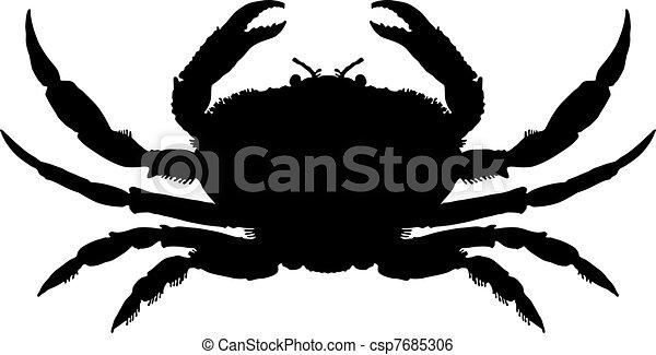 Crab Silhouette - csp7685306